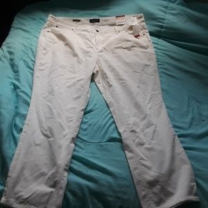 Talbots white straight cut jeans
